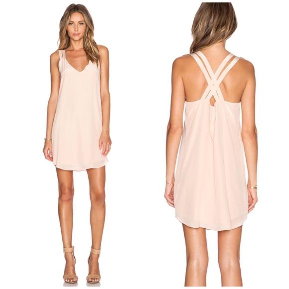 Rory Beca blush pink silk Olena dress NWT